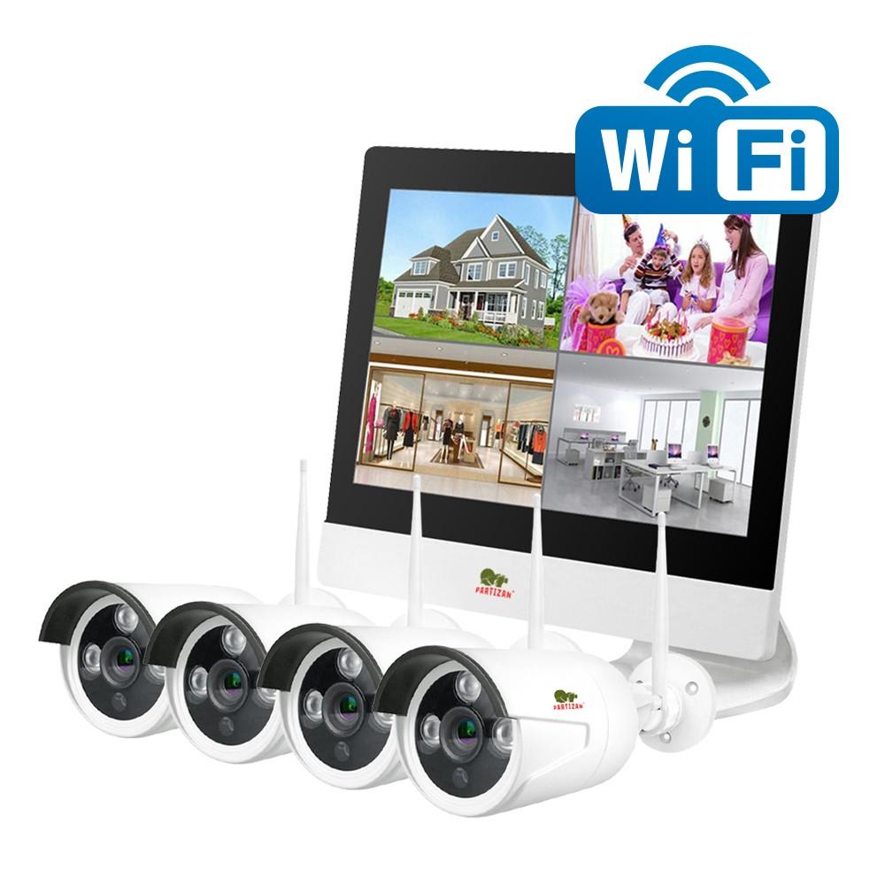 Zunanji Wi-Fi kit z LCD 2MP 4xIP